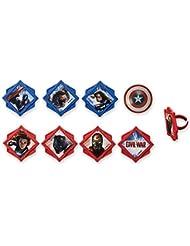 DecoPac Captain America: Civil War Divided Cupcake Rings (12 Count)