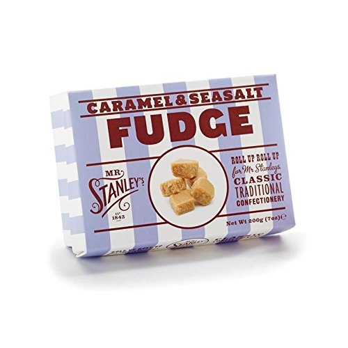 Mr Stanley's Caramel & Sea Salt Fudge 200g - Pack of 4