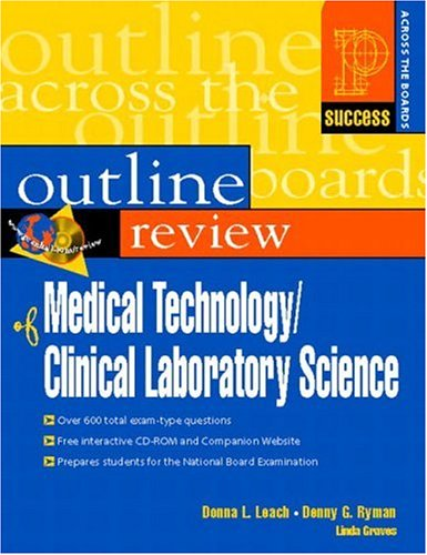 Prentice Hall Health's Outline Review of Medical Technology/Clinical Laboratory Science by Prentice Hall