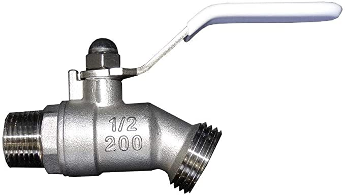 1/2 in. Stainless Steel Quarter Turn Hose Bibb Shut-Off Valve