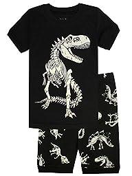 Boys Pajamas T-Rex Little Kids Pjs Sets 100% Cotton Toddler Sleepwear Short Clothes 2T