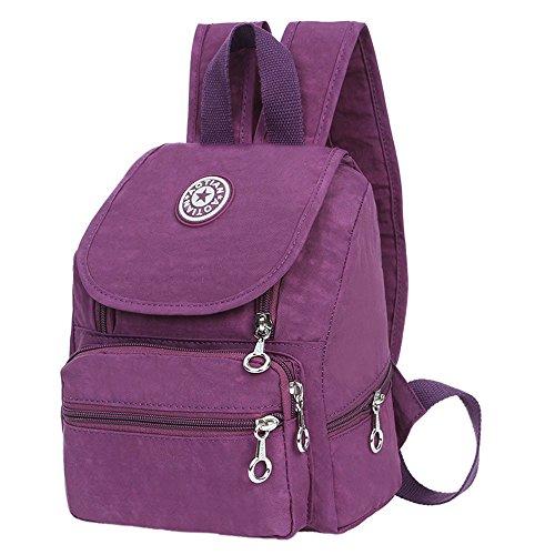 loisirs Garçons kingko® Bookbag Sac Sac Randonnée Satchel école violet Filles à à dos Sac Nylon dos 44pBtr