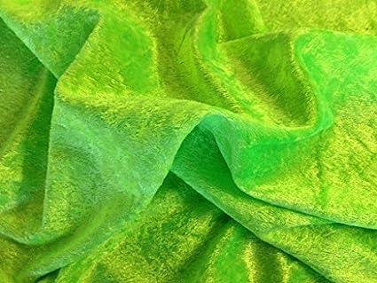 Flo verde picado de terciopelo/tela de terciopelo (por metro)