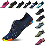 Lauwodun Womens Mens Quick Dry Water Shoes Barefoot Aqua Sock Shoes Beach Surfing Yoga Running Exercise -Blue41