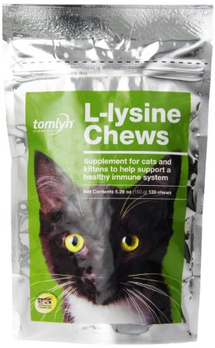 Tomlyn Scientifics 120 Count L-Lysine Health Supplement Chews for Cats