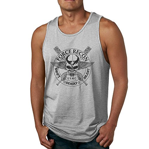 NRYDYMM Men's Tank Top United States Marine Corps Force Recon Exercise Tank 100% Cotton Bodybuilding (Force Recon Vest)