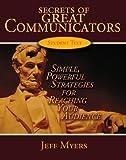 Secrets of Great Communicators Teachers, Jeff Myers, 0805468811