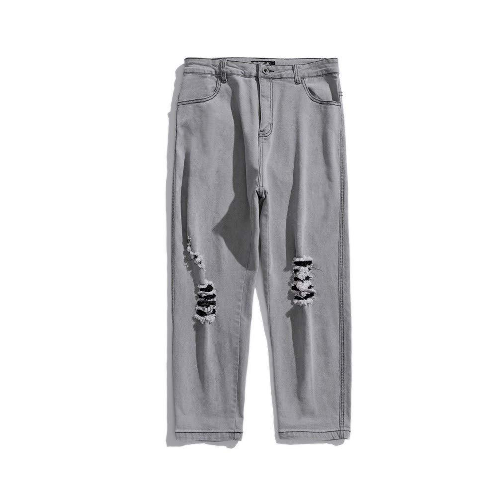 EVEORSSRA Jeanshosen Street Relax Stretch Wasch Bleach Alte gebrochene Bettler Jeans Tide Männer Shorts