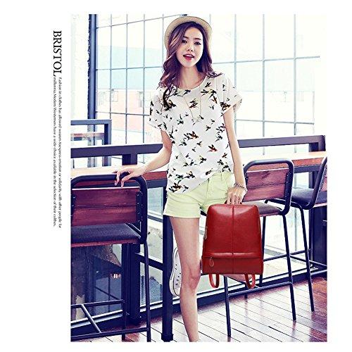 Yoome Fashion Stiche Rucksack Geldbörse Casual Urban Day Tasche Pendler Tasche Schulter Hangbag für Frauen Burgund Burgund 1zEUTk76d