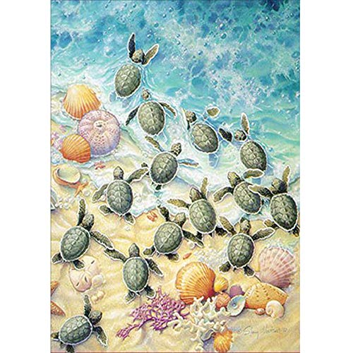 YRD TECH 5D DIY Diamond Painting by Number Kits-Sea Turtle 30X40CM (30X40CM)