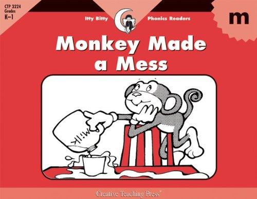 Monkey Made a Mess, Itty Bitty Phonics Reader (Itty-bitty Phonics Readers)