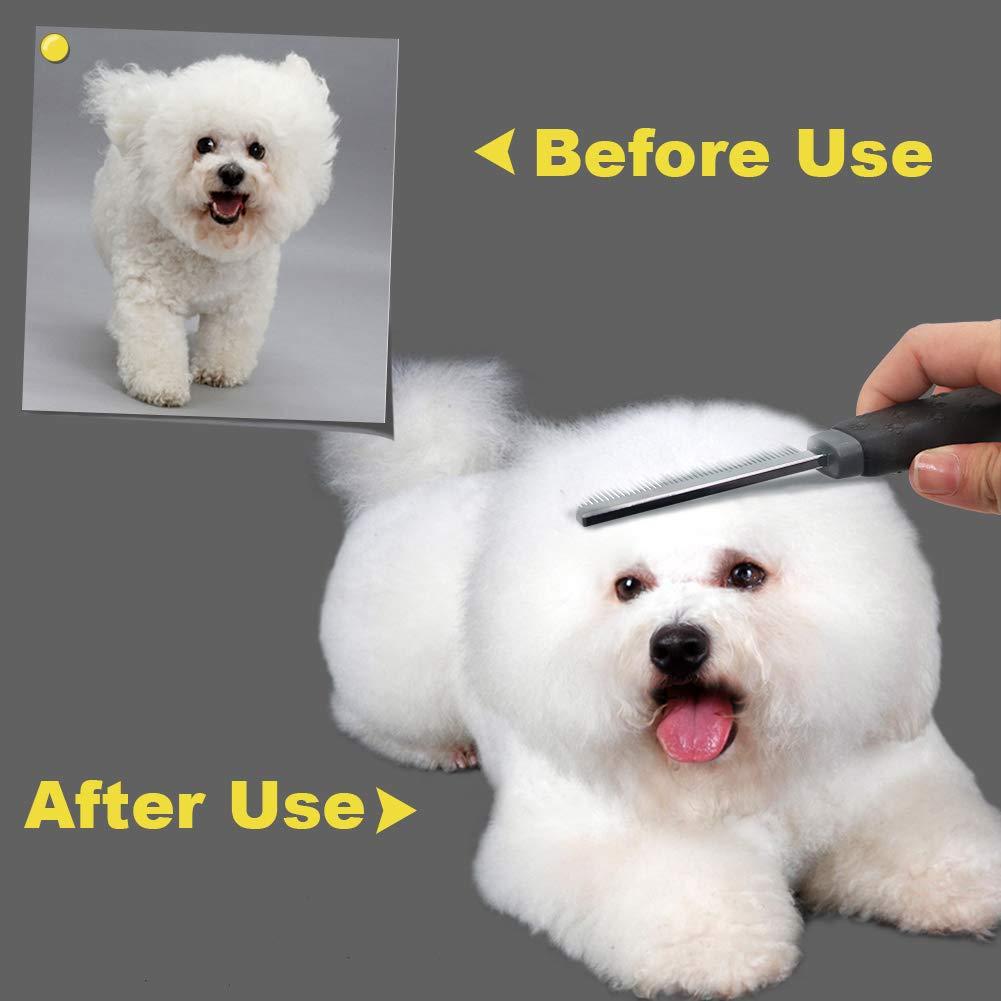 Peine Perro Gato Cepillo para Mascotas con Pelo Medio y ...