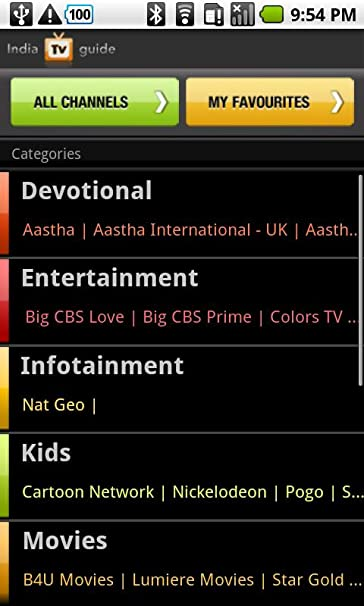 Amazon com: India TV Guide: Appstore for Android