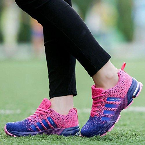 Moda Zapatos Deportivos Al Aire Libre, Verano Y Otoño Zapatillas De Tela De Malla Para Senderismo Correr Escalada Respirable y Antideslizante 8702 purple