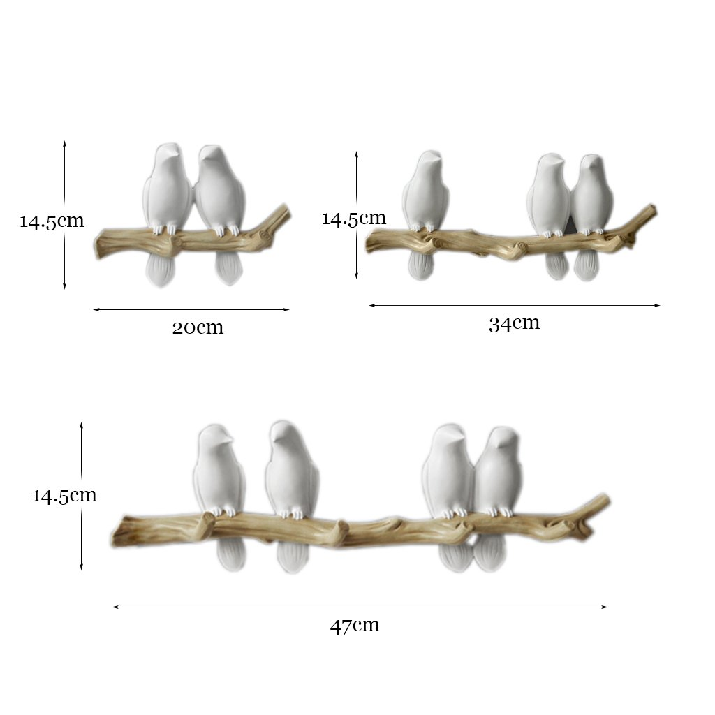 Amazon.de: WCJZWJ-Garderobe Kreative Dreidimensionale Vogel ...