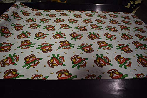 by The Yard- Quilt Fabric Christmas Bear Sled Print Craft Apparel Tabletop 45