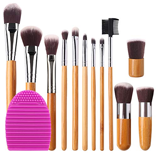 BEAKEY Makeup Brush Set Bamboo Handle Premium Synthetic for sale  Delivered anywhere in Canada