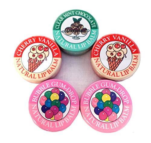 Candy Kisses Natural Lip Balm 5 Piece - Lip Candy Kisses Balm