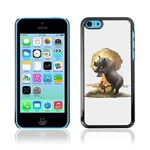 YOYOSHOP [Funny Rhino Explosion Illustration] Apple iPhone 5C Case