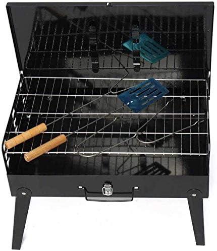 LUCKING Portable BBQ Barbecue Grills en Plein Air Pliable Jardin Charbon De Bois Barbecue Patio Partie Cuisson Pique-Nique pour 3-5 Personne