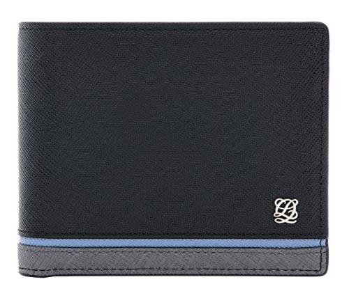 - LQ LOUIS QUATORZE Slim Cow Leather Bifold Wallet for Men-Classic and Practical