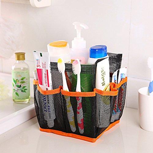 Corner Biz Bath - Cosmetic Bag Storage Pouch Handle Home Travel Organizer Net Gauze Bag (Orange)