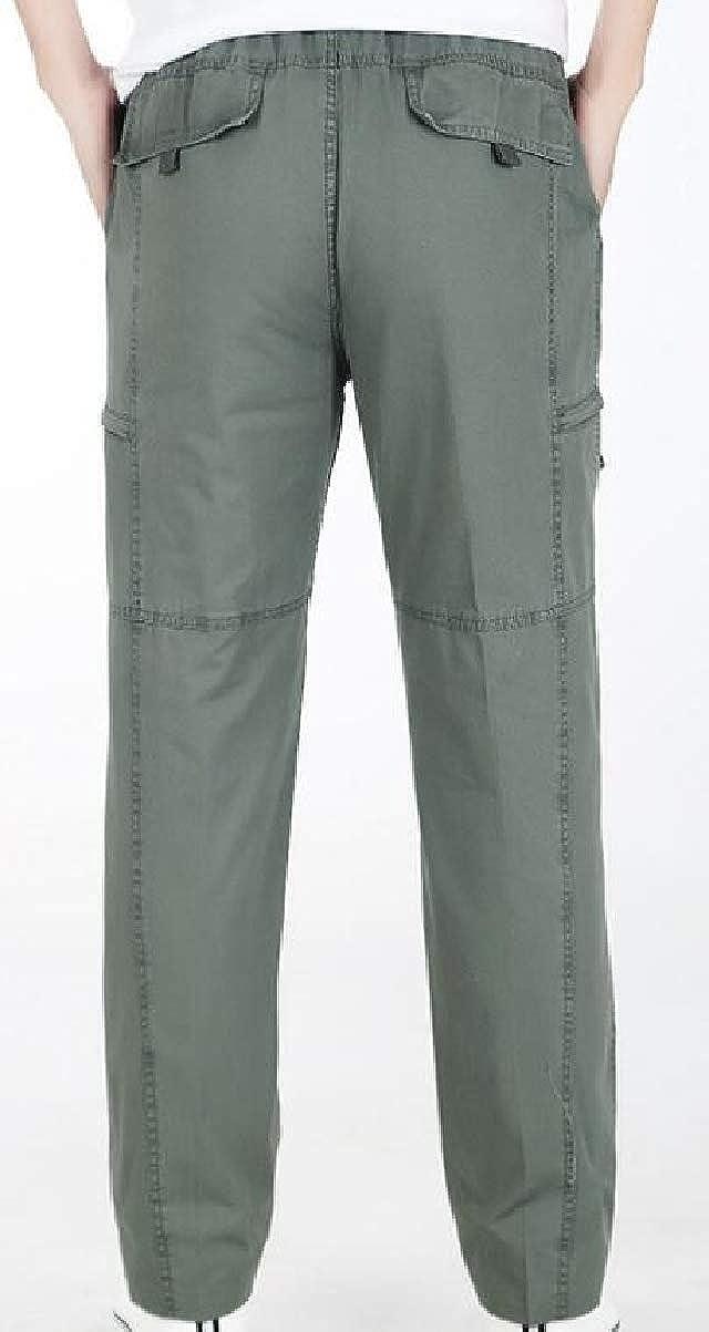 CBTLVSN Mens Oversize Pant Straight Leg Casual Multi Pockets Cargo Pants