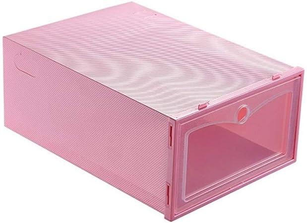 KINLANG Zapato Organizador del cajón Plegable Transparente de Zapatos de plástico de Almacenamiento de Caja de la Caja del rectángulo Cajas de Zapatos Zapatos del Caso del Recorrido Holder portátil: Amazon.es: Hogar