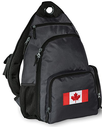 Canada Sling Backpack Canadian Flag One Strap Backpacks Travel School Bags (Backpack Flag Canada Women compare prices)