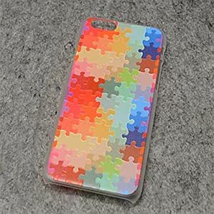 QHY Jigsaw Puzzle Style Painted Relief Plastic Hard Back Cover for iPhone 6 Plus