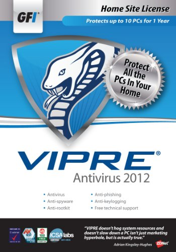 GFI Software VIPRE AV 2012 - Home Site License 1 Year [Old Version] from GFI Software