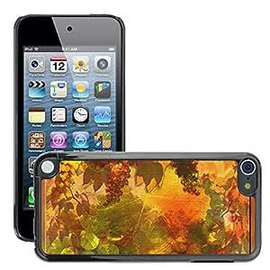 Etui Housse Coque de Protection Cover Rigide pour // M00151645 Boletín vino vintage Junta otoño // Apple ipod Touch 5 5G 5th