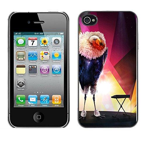 Omega Case PC Polycarbonate Cas Coque Drapeau - Apple iPhone 4 / 4S ( The Glamorous Bird )