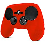 ParticleGrip STUDDED Skin for Steam Controller by Foamy Lizard ® Sweat Free 100% Silicone Skin Cover w/Raised Anti-slip Studs (SKIN, RED)