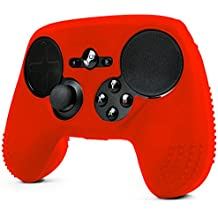 ParticleGrip STUDDED Skin for Steam Controller by Foamy Lizard  Sweat Free 100% Silicone Skin Cover w/Raised Anti-slip Studs *CONTROLLER NOT INCLUDED* (SKIN, RED)