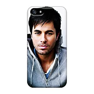 Iphone 5/5s QVB9793qtIi Allow Personal Design Nice Enrique Miguel Iglesias Pictures Scratch Protection Hard Phone Cases -LauraAdamicska