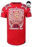 JC DISTRO Boys Hipster Hip Hop Star Printed W/Glossy Gel Print T-Shirts RED L