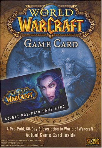 World of Warcraft 60 Day Pre-Paid Time Card - PC/Mac (Games Like World Of Warcraft For Mac)