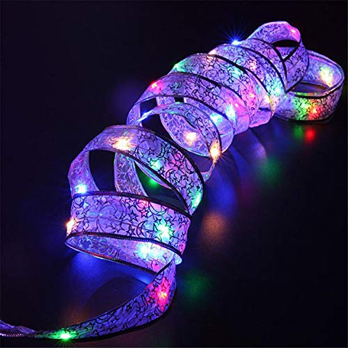 (Clearance  Tuscom 4 M 40 LED Ribbon Halloween Window Curtain Lights String, for Lighting, Garden, Outside Garage Wedding Festival Holiday(3 Colors) (Multicolor))