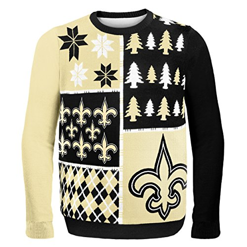 NFL Ugly Christmas Sweater Busy Block Design