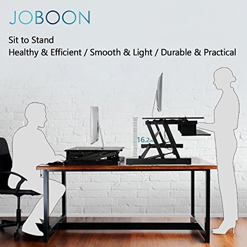 Joboon Height Adjustable Sit Stand Desk Computer Riser