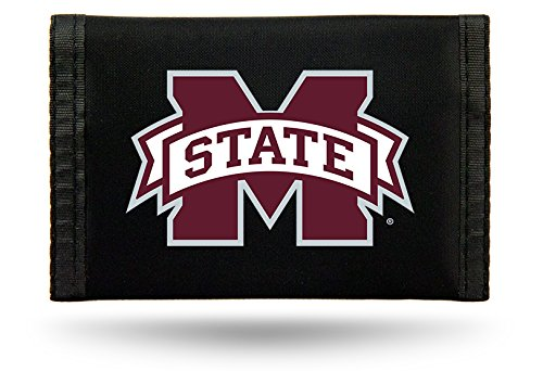 Mississippi State Bulldogs Wallet - Rico NCAA Mississippi State Bulldogs Nylon Trifold Wallet