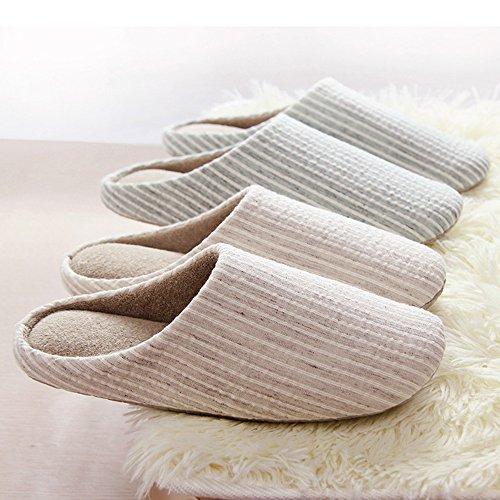 Slipper Slippers Men House for Tatami Cotton Brown Winter Women Antiskid Cozy Y4wOda