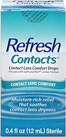 Refresh Contacts Contact Lens Comfort Drops, 0.4 Fluid Ounces (12 ml) (Refresh Contacts)