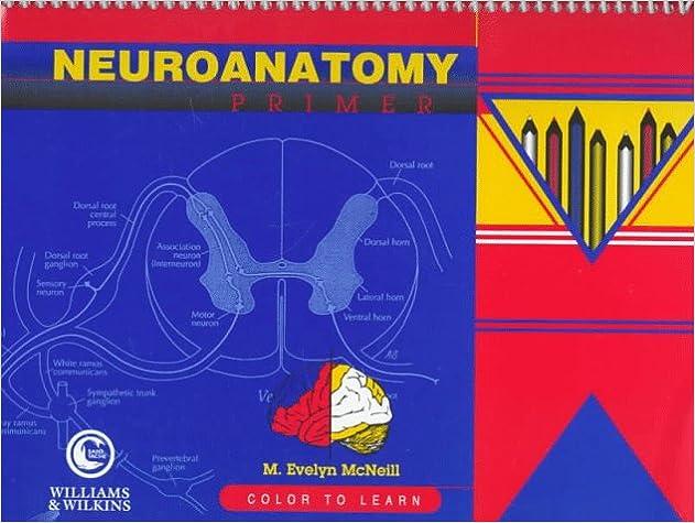 neuroanatomy primer color to learn 9780683300673 medicine health science books amazoncom - Neuroanatomy Coloring Book