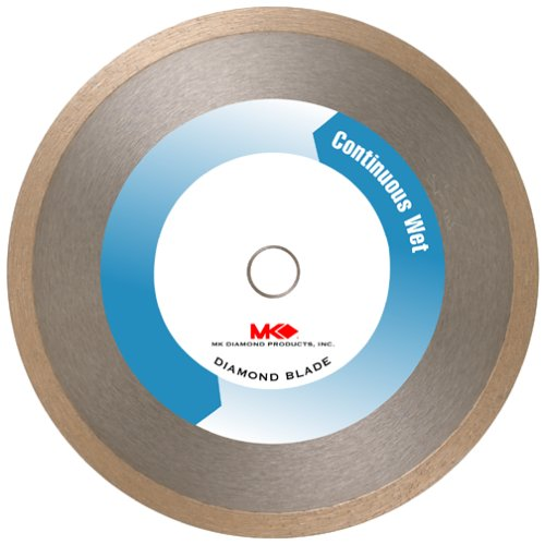 Marble Blade (MK Diamond 154861 MK-100 7-Inch Wet Cutting Continuous Rim Diamond Saw Blade with 5/8-Inch Arbor for Tile and)