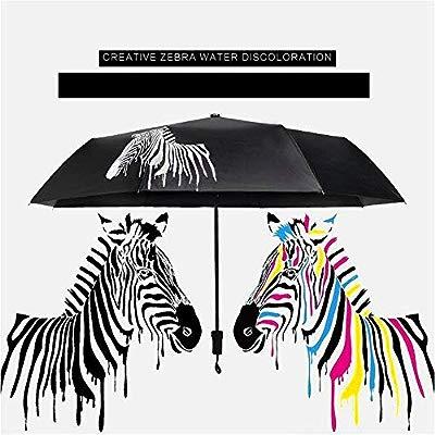 CHUANG TIANG Paraguas Plegable Creativo, Imagen de Cebra, Paraguas ...
