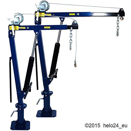 500 Kg Ladekran mit Seilwinde in blau