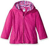 Gerber Infant Girls' Hooded Micro Fleece Jacket,Fuchsia,3-6 Months