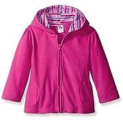 Gerber Infant Girls' Hooded Micro Fleece Jacket,Fuchsia,6-9 Months